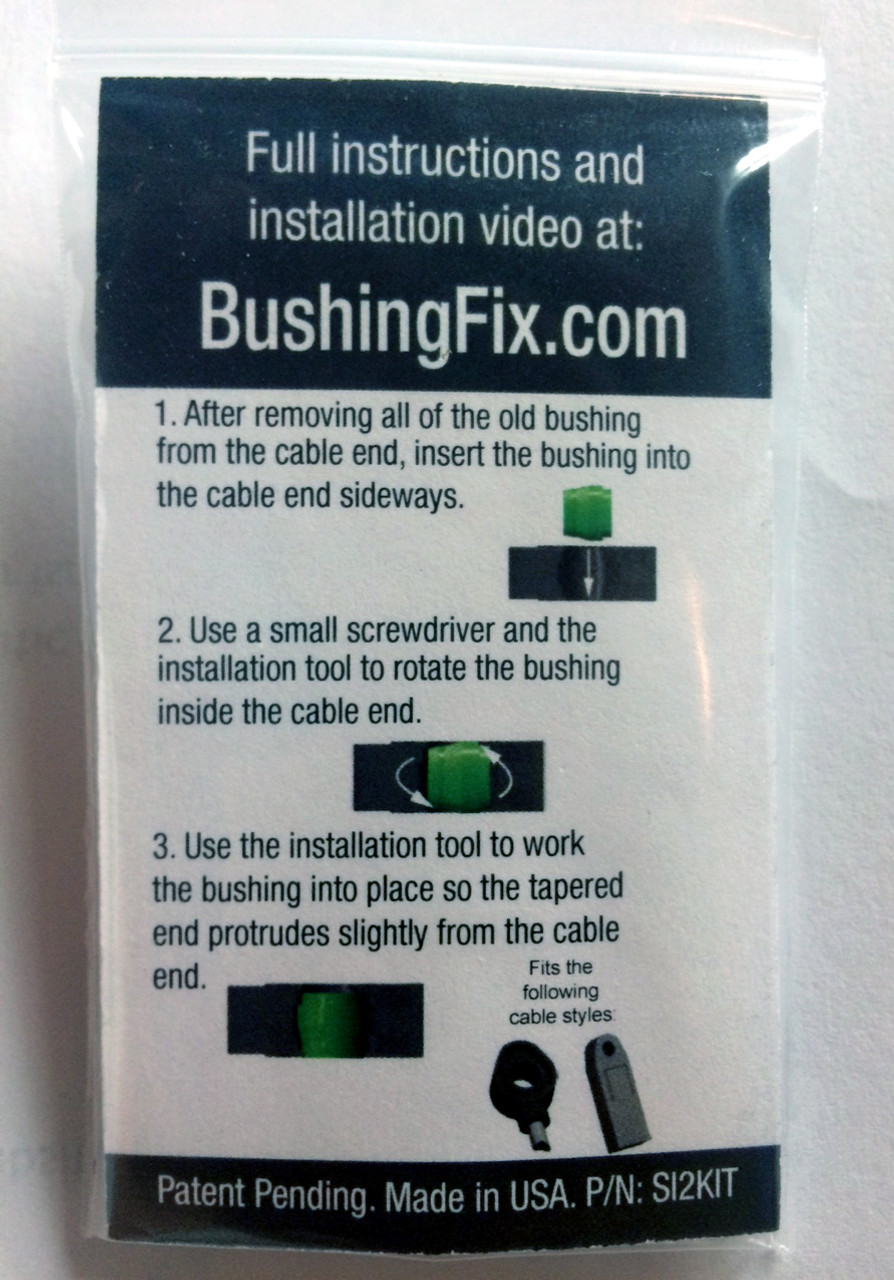 Chevrolet Volt Transmission Shift Cable Bushing Repair Kit  with easy to follow instructions.