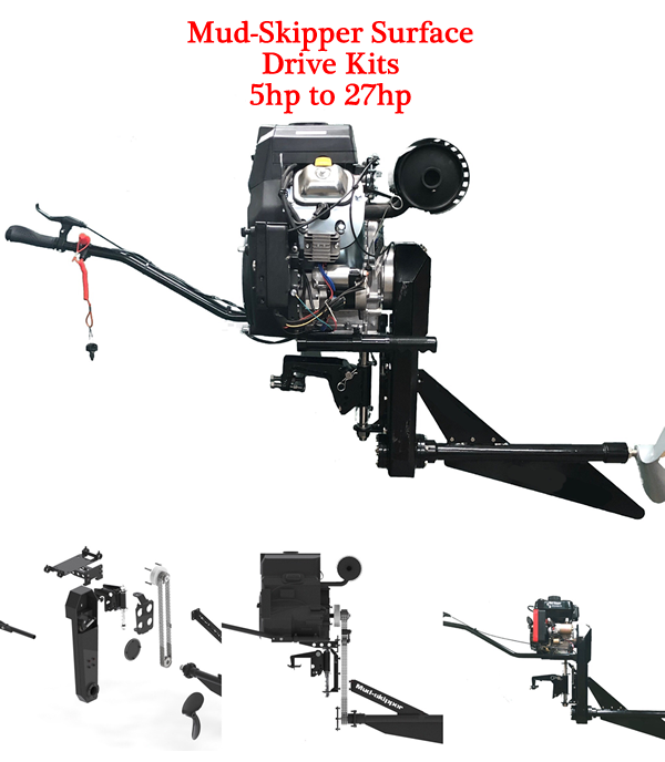Mud-Skipper Surface Drives - 5hp to 27hp