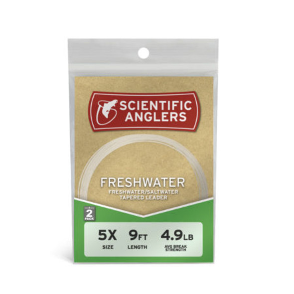 Scientific Anglers Leader 9' Freshwater 2pk