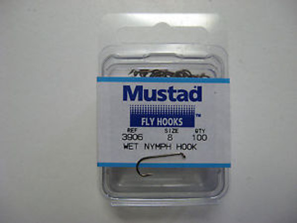 Mustad 3906 Nymph Sproat Fly Hook 50/pack