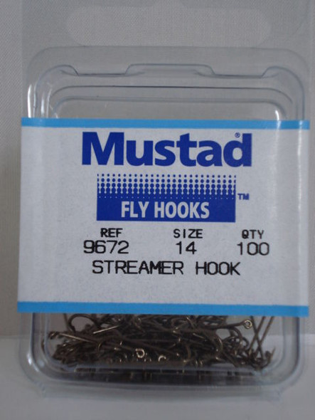 Mustad 9672 Streamer 3x Long Fly Hooks 50/pack