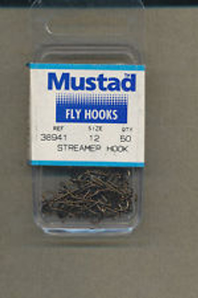 Mustad 38941 Streamer Fly Hook 50/pack