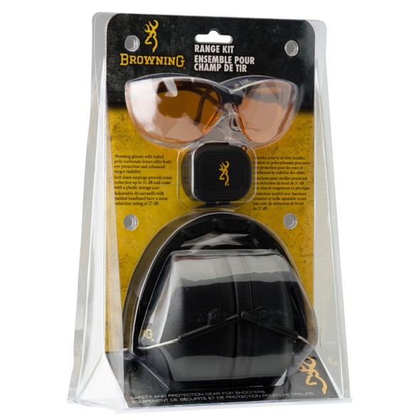 Browning Range Kit Ear Muff & Eye Glass