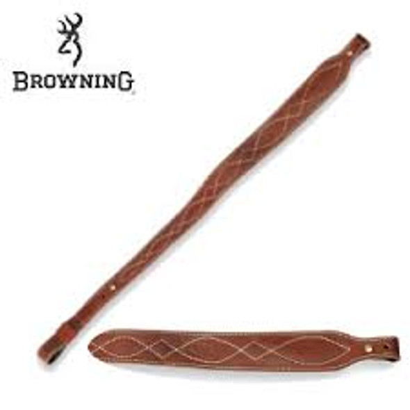 Browning Sling Western Stitch Brown Leather