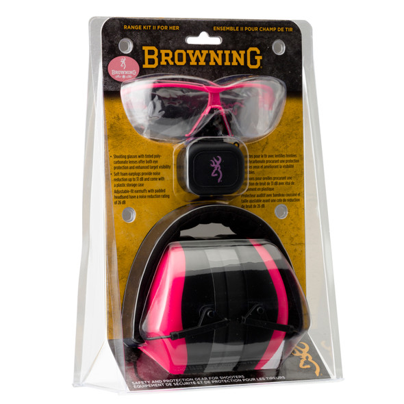 Browning Range Kit Ladies Ear Muff & Eye Glass