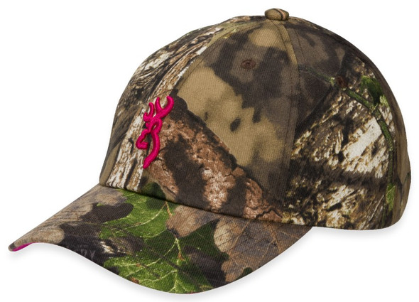 Browning Cap Ladies Fuschia Mossy Oak