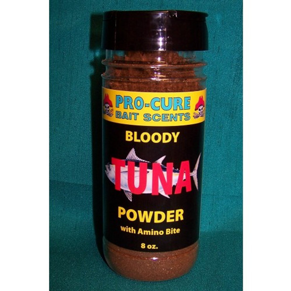Pro Cure Bloody Tuna Powder 8oz Shaker Bottle