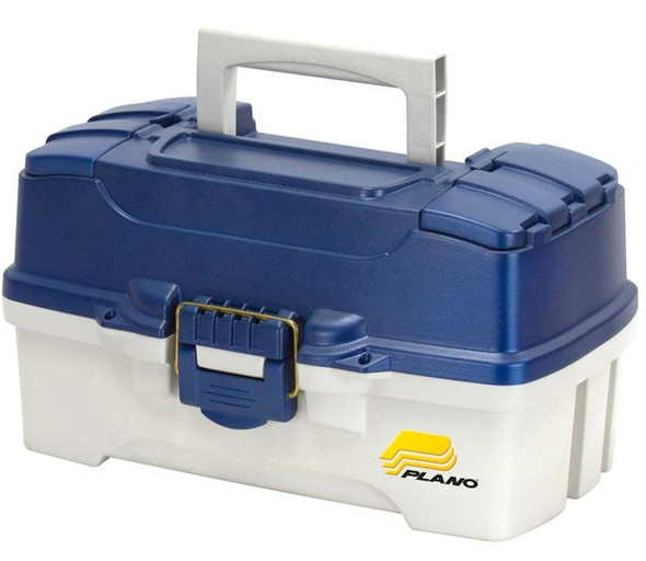 Plano Tackle Box 2 Tray Blue/white Dual Top Access 620206