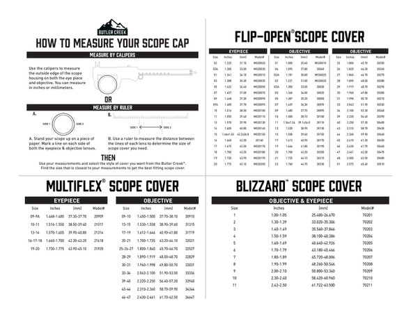 Butler Creek Flip Open Scope Covers