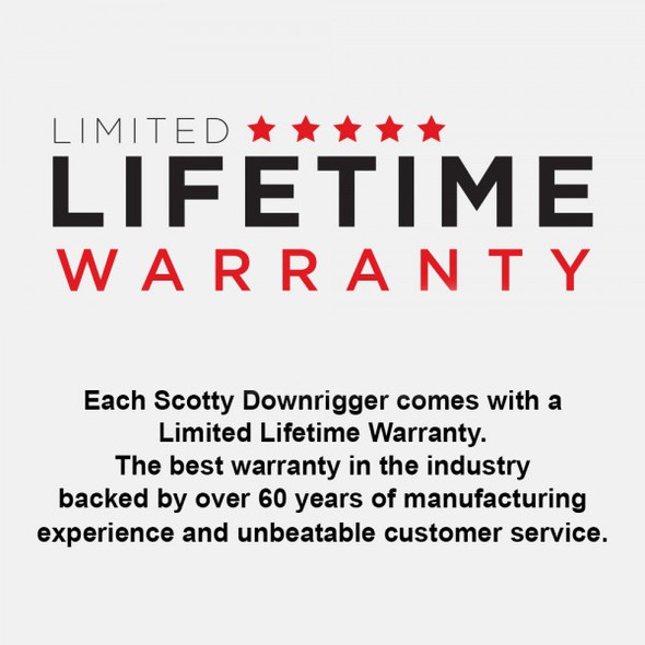 Scotty Downrigger Compact Manual Strongarm c/w Rod Holder 1080