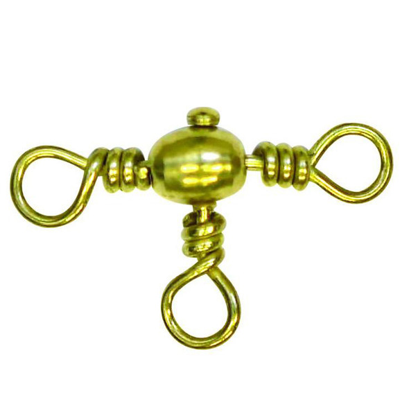 Angler Swivel Crossline Brass