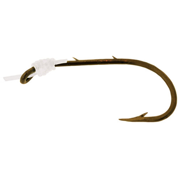 Angler Hook Baitholder Snelled Bronze & Leader 6pk