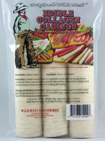Wild West Edible Collagen Casings 32mm