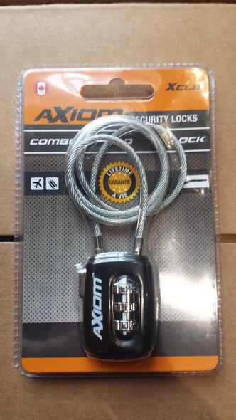 Axiom Pad Lock Long Cable Combo