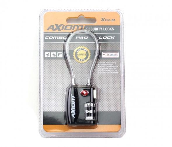 Axiom Pad Lock Short Cable Combo