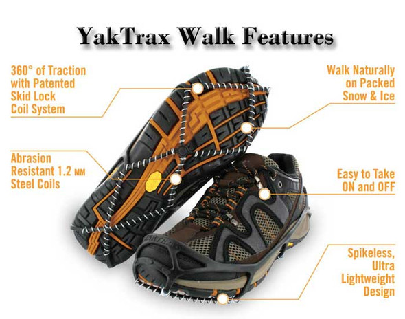 Yaktrax Walk Ice Cleats