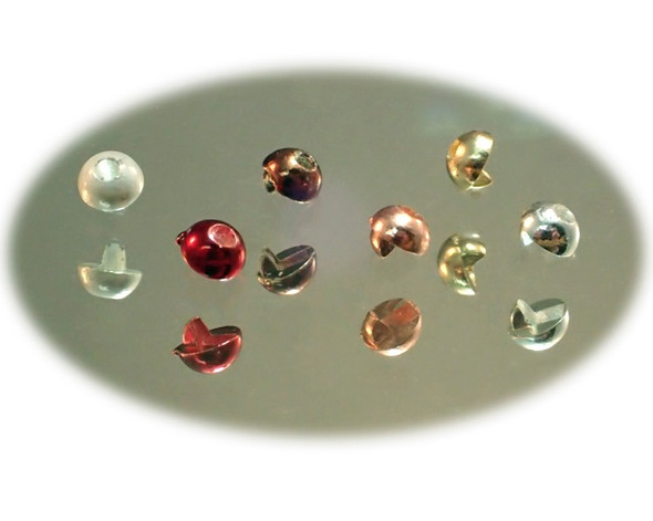 2 Tone Tungsten Half Beads