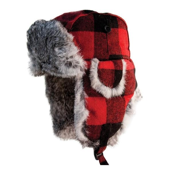 Eskimo Buffalo Plaid Alaskan Fur Hat