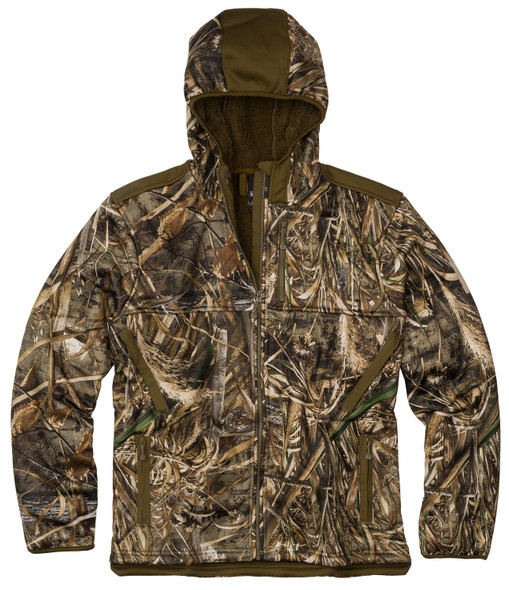 Browning Mens Jacket Highpile Hooded Camo