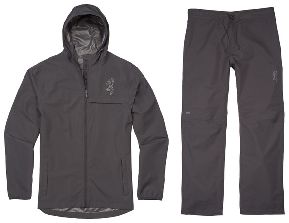 Browning Mens Rain Suit Charcoal Gray
