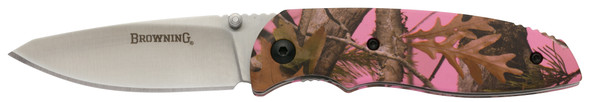 Browning Knife EDC Everyday Pink Camo Folding