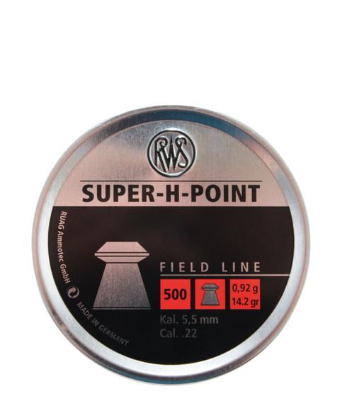 RWS 22 Cal Super H Point Pellets Box 500