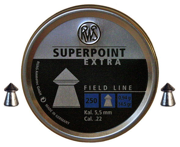 RWS 22 Cal Superpoint Extra Pellets Box 500