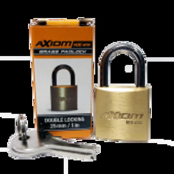 Axiom Pad Lock Brass 25mm