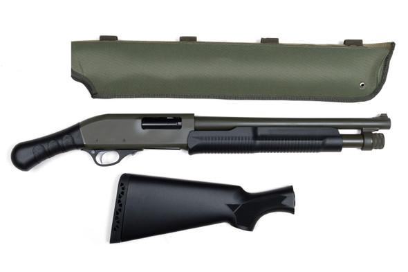 "Churchill 12ga 3"" Pump 15"" Barrel Black Synthetic Stock & Free Olive Green Scabbard"