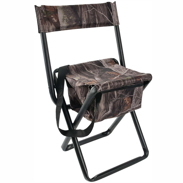 Allen Folding Stool With Back & Storange Pouch