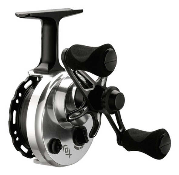 13 Fishing Black Betty 6061 Free Fall Ice Reel Left Hand Line Window
