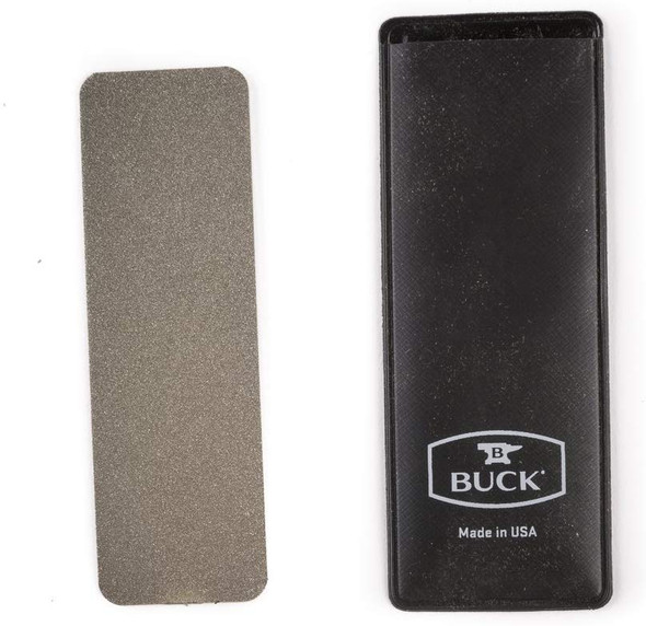 Buck 97076 Sharpener Edgetek Dual Pocket Flat Medium & Coarse