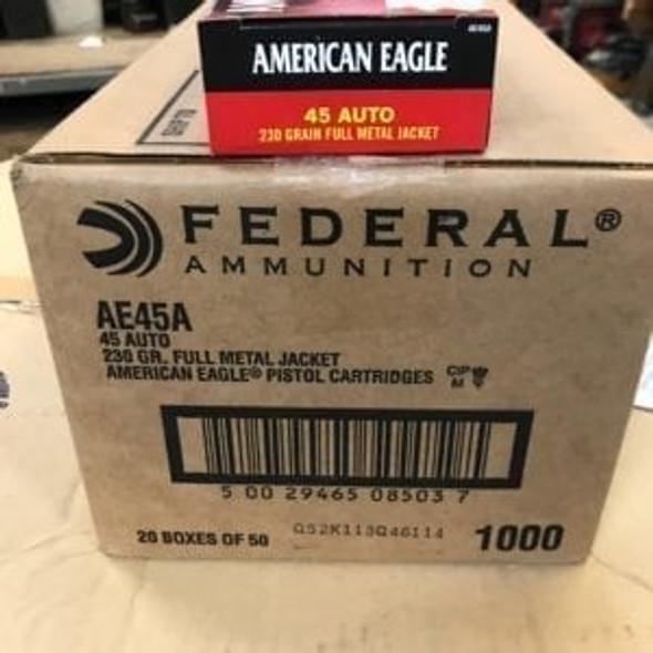 American Eagle 45 ACP 230gr FMJ Case 1000