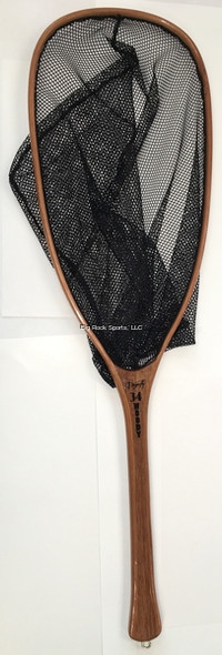 "Dragonfly Woody Landing Net Black Nylon Net 14"" Handle 20""x14"" Net"