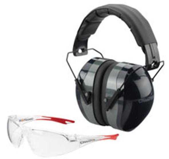 Champion Ear & Eye Combo Passive Dark Ballistic 26db NRR Black