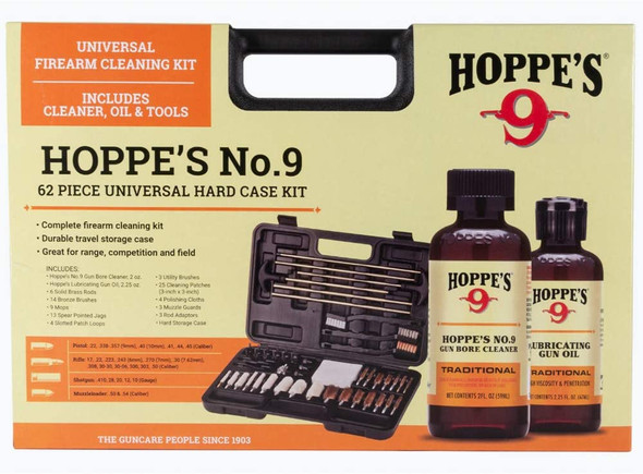 Hoppes #9 62pc Universal Hard Case Wet Cleaning Kit