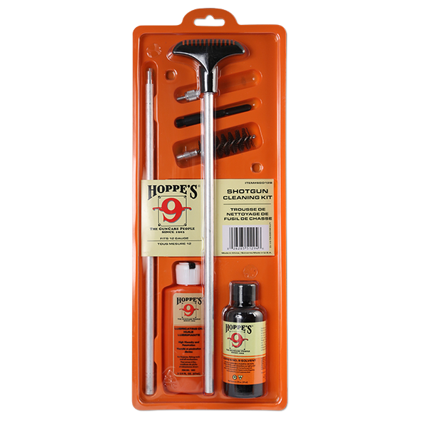 Hoppes Shotgun Cleaning Kit All Gauges c/w Bore Cleaner, Lubricating Oil, Rod & Adapters