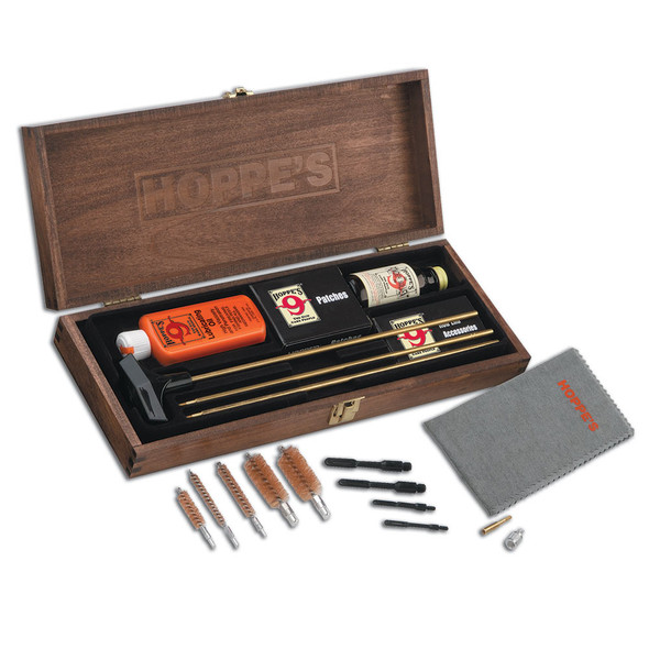 Hoppes Deluxe Gun Cleaning Kit Rifle & Shotgun Wood Box