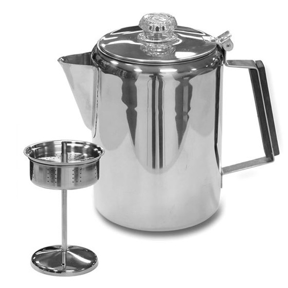 Stansport Perculator Coffee Pot 9-Cup Stainless Steel