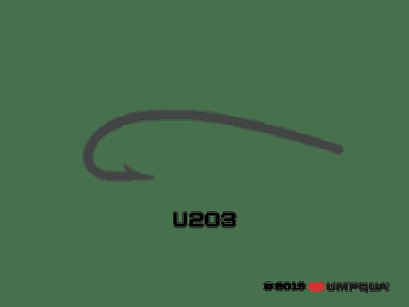 Umpqua Hook Curved Straight Eye U203