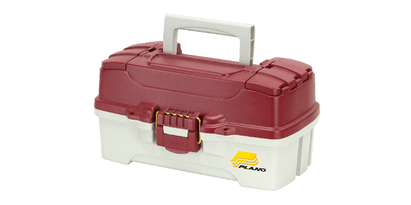 Plano Tackle Box 1 Tray Red White Dual Top Access