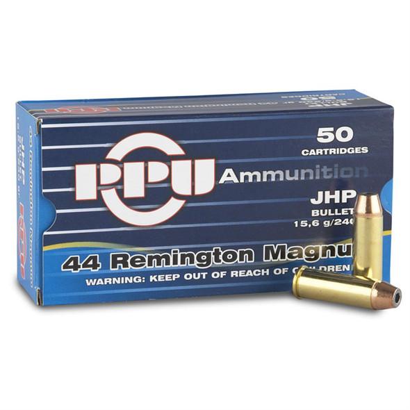 PPU 44 Rem Mag 240gr Box/50