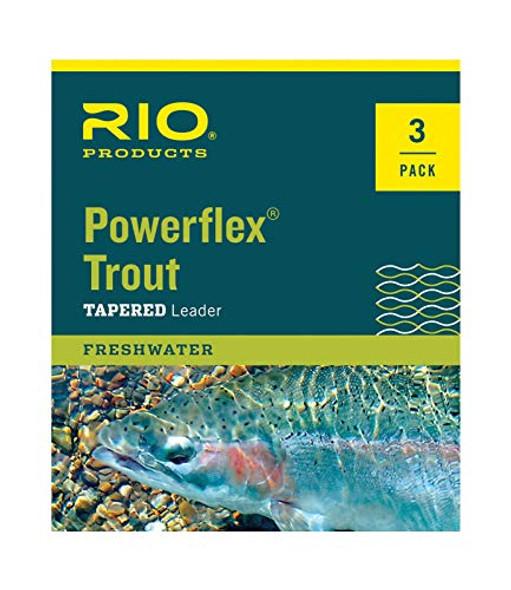 Rio Powerflex Tapered Leader 7.5' 4x 6.4lb 3pk
