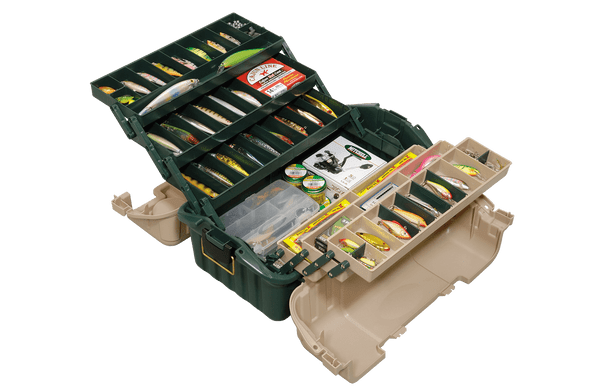 Plano Tackle Box 6 Tray Hip Roof Green, Sandstone