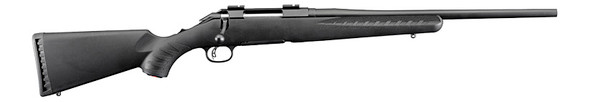 """Ruger American 7mm-08 Rem Compact 18"""" Barrel Black Synthetic Stock RH"""