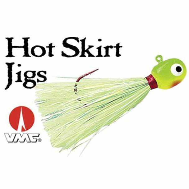 VMC Hot Skirt Glow Jig 1/8oz #1/0 Hook