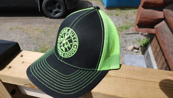 Outdoor Cap Lone Butte Sporting Goods Black/Neon Yellow