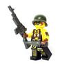 Custom LEGO® Minifigure - Female US SoldierSol