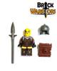 Custom LEGO® Minifigure - Female Elf Warrior Pack Contents