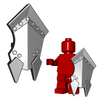 Minifigure Shield - Orc Shield